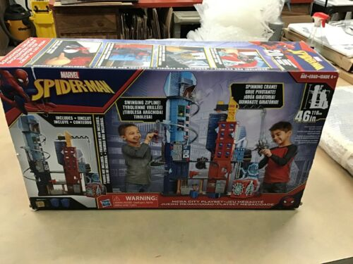 """Spider-Man Marvel Mega City Playset 46"""" Tall by Hasbro  Bran"""