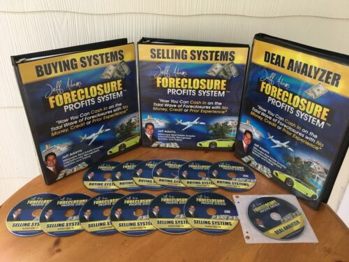 Foreclosure Profits System Real Estate CourseBy Jeff Adams 3 MANUALS & 13 CD