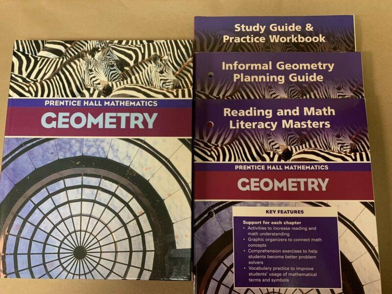 Geometry Prentice Hall Mathematics 2004 Homeschool Workbook Plan Guide Masters