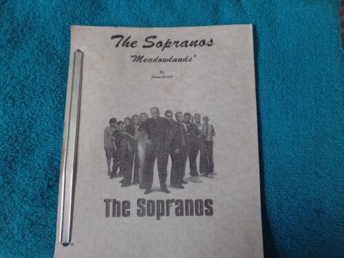 Sopranos 4th revision Meadowlands script  Great condition