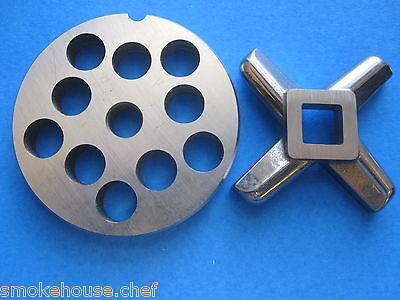 Combo Set  12 X 12 Ss Meat Grinder Chopper Hobart Plate And New Knife