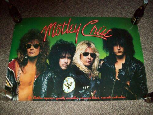 "MOTLEY CRUE Band PROMO Poster Girls Girls Girls 1987 LP 24"" x 36"" RARE!"