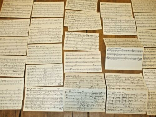 Lot of 25 Vintage TUNE DEX Performance Rights Music Cards Various Titles 1950