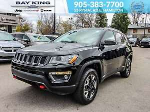 2017 Jeep Compass TRAILHAWK 4X4, GPS, REMOTE START, HEATED LEATH