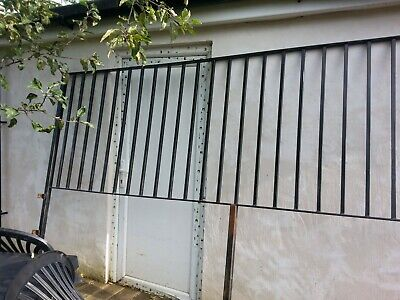 black metal exterior railings. n london