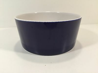 IKEA Blue & White Ceramic Pottery Dog Dish Bowl Made In Portugal