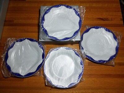 Pottery Barn Hanukkah Dessert Plates Set of 4 New in original -