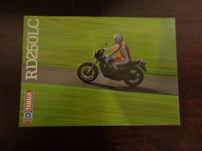 GENUINE ORIGINAL YAMAHA RD250LC MOTORCYCLE SALES BROCHURE IN VGC