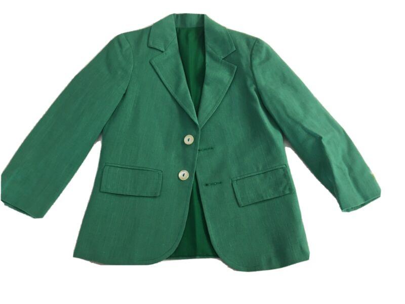 Boy Imp Originals Green Linen Blazer Sport Coat Size 6 Masters Golf Christmas