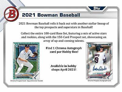 CHICAGO WHITE SOX 2021 BOWMAN HOBBY BASEBALL 1/3 CASE 4 BOX TEAM BREAK 9 - $4.99
