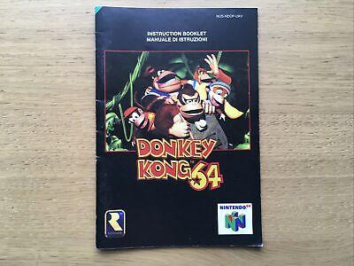 Donkey Kong 64 Nintendo 64 N64 Manual Only