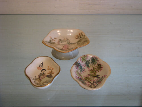 Three Chinese Porcelain Dishes with QianJiang Paintings - 1880-1920