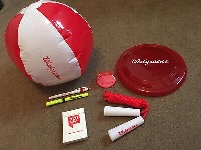 Walgreens Playing Cards,Beach Ball,Pen,Highlighter,Frisbee,Jump Rope,Mirror