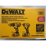 DEWALT DCK240C2 20V 20 Volt Li-Ion Combo Kit 2 Pc DCF885B DCD771B DCB207-2 NEW