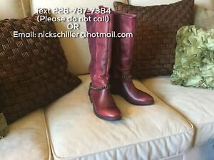 Inuovo made Red leather Boot made in Turkey - Size 9.5