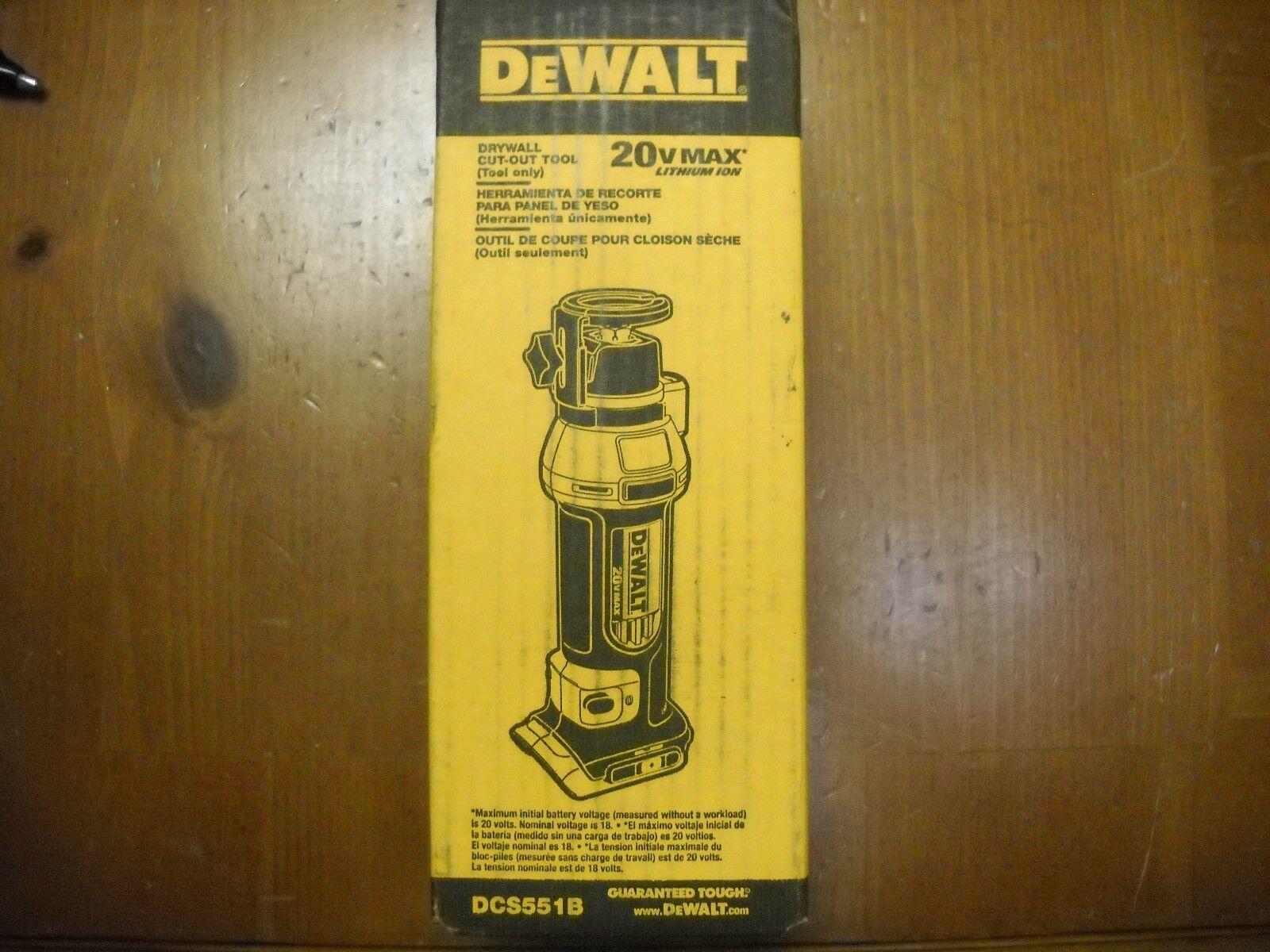 DEWALT DCS551B 20V MAX Drywall Cut-Out Tool Bare Tool NEW