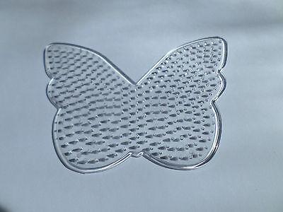 1 x Hot Fuse Bead Peg Board - 128mm x 98mm - Butterfly