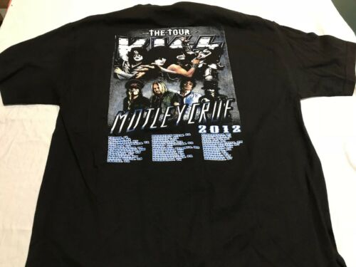 Kiss Motley Crue Tour 2012 Cotton T-shirt Size XL Condition New Nice Shirt