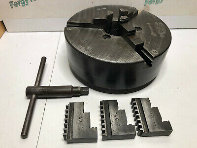 Union Mfg 5 Lathe Chuck With Both 3 Jaw Sets Usa 1-12 X 8 Tpi