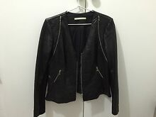 Leather Jacket - Black Canterbury Boroondara Area Preview