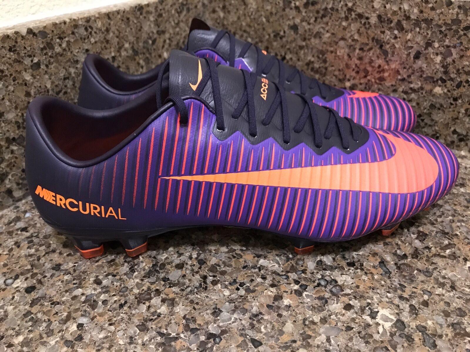 new arrival a7378 66a24 Nike Mercurial Vapor XI FG ACC Purple Dynasty 831958-585 Men Sz 9.5-10