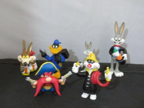 6 1980s-90s Warner Bros Looney Tunes PVC figures