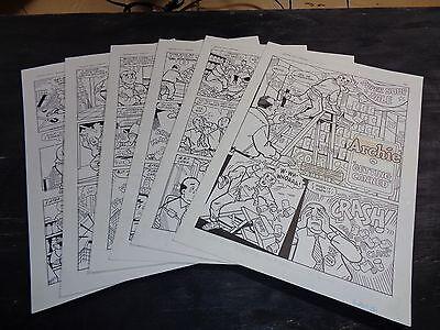 Original Art Story (Archie 443) 6 Pgs COMPLETE! S. GOLDBERG; 1996 (ART#0307)