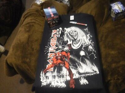 iron maiden number of the beast xl t shirt