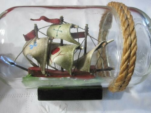 """Ship in Bottle Whimsy Pirate Ship 7"""""""
