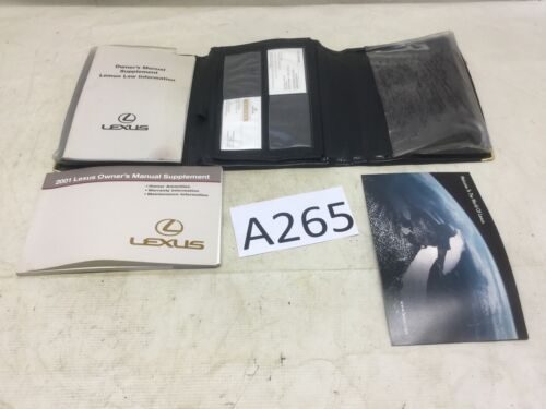 2001 01 LEXUS GS300 Owners Manual Information Guide Books W/ Case R A265
