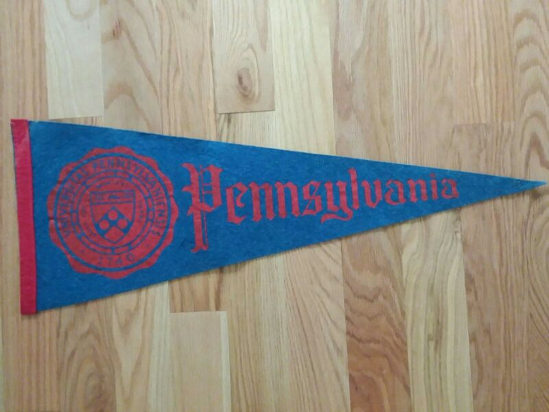 1950s or 1960s FELT PENNANT University of Pennsylvania 27""