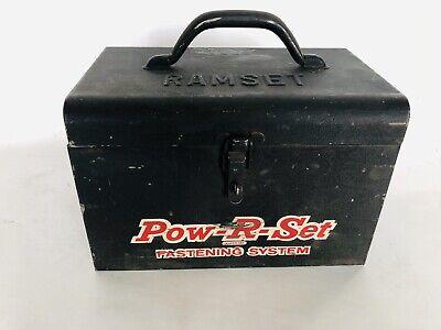 Rare 1962 Ramset Model 41 Pow-r-set Olin Powder Actuated Fastener Case Pins