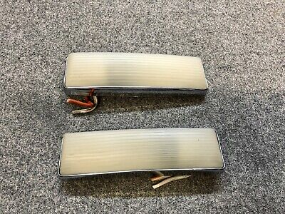 1958-1967 CHEVY IMPALA HARDTOP ONLY DOME LIGHT PAIR RECTANGLE OEM