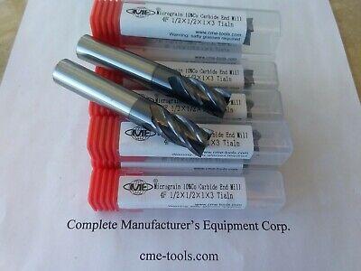 "6pcs 1//16/"" 4 Flute Double End Square TiN Coated Stub USA Carbide End Mill"