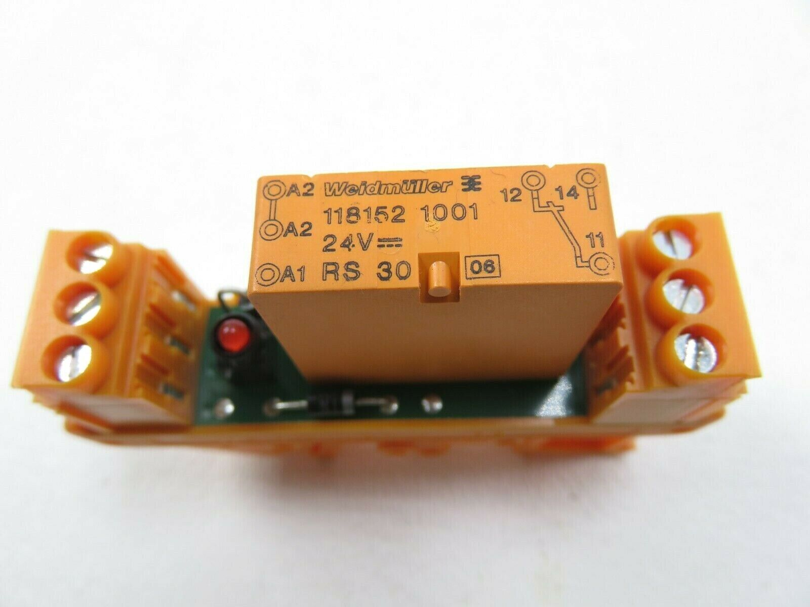Lot of 2 Weidmuller  RS30  V23057-B3006-A101 24VDC Relay Module