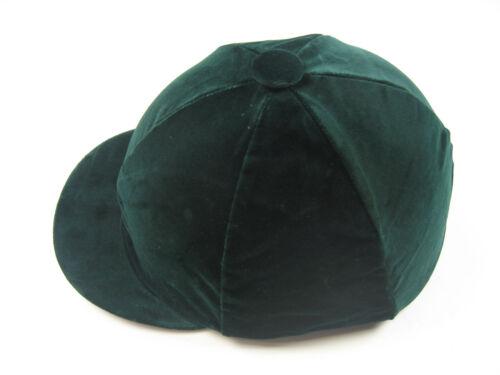 Helmet Cover Kappenüberzug Made Velvet with Elastic Dark Green L Made IN England