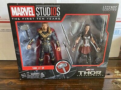 2017 Hasbro Marvel Legends Thor & Sif 2-Pack Marvel Studios The First Ten Years