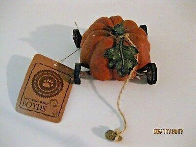 BOYDS  TUG ALONG PUMPKIN EXPRESS #654238 - Pumpkin Express