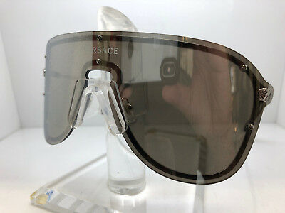 Authentic VERSACE SUNGLASSES VE2180 10006G SILVER/GREY LENS  special listing #1