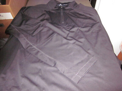 NEW! LANDS END OUTFITTERS MENS MICROFIBER HALF ZIP PULLOVER WIND JACKET BLACK XL ()