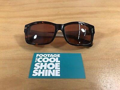 9 Five Greens Tortoise Frame Brown Lens Sunglasses Steel Silver Unisex Eye Wear