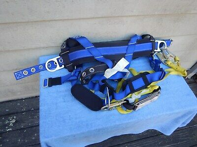 Guardian Fall Protection Construction Lineman Safety Harness Small With Lanyard