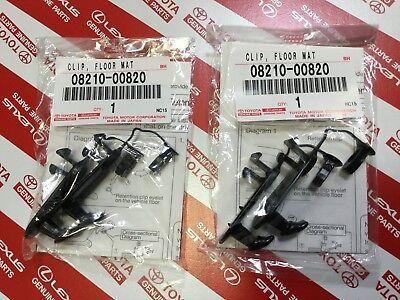 GENUINE TOYOTA Lexus Scion Floor Mat Hooks Retention Hold Down clips Holders OEM