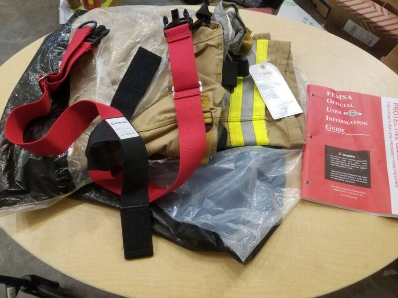 NOS Sperian Morning Pride Firefighter turnout gear VSL Pants 36W x30L Gold 2012