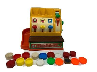 Fisher Price Cash Register with Coins Toy 926 Vintage 1974 Retro Classic