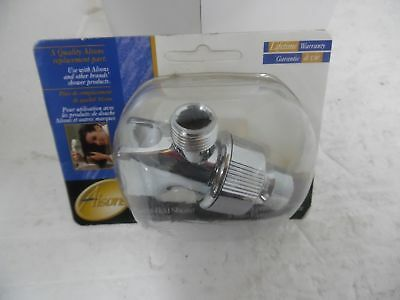 ALSONS 3401CPK HAND HELD SHOWER HEAD ARM Cradle mount Chrome New in Pack