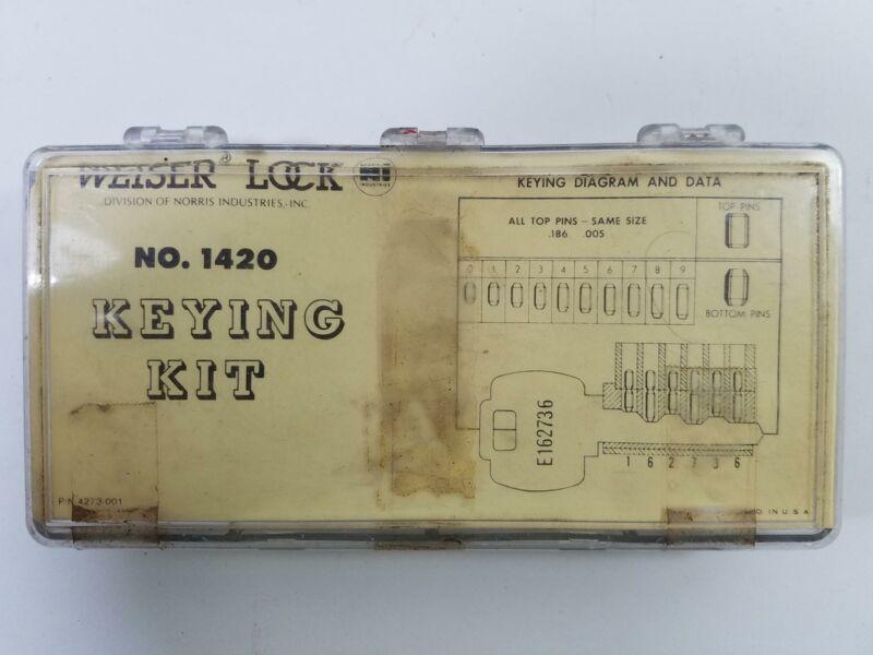 Vintage Weiser Lock Keying Kit No 1420 P/N 4273-001 Pin Kit