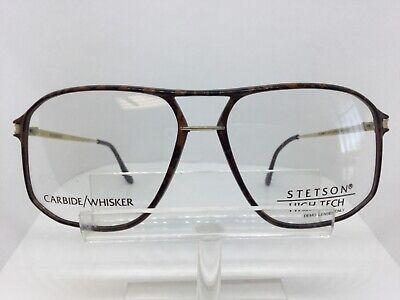 Vintage SETSON 29 Eyeglasses High Tech Carbide Whisker Brown Large (High Tech Glasses)