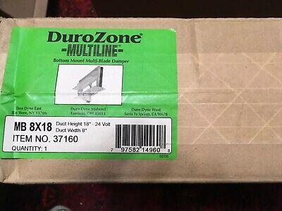 Dura Zone 37160 Multi-blade 8 X 18 Motorized Rectangular Air Hvac Damper 24v