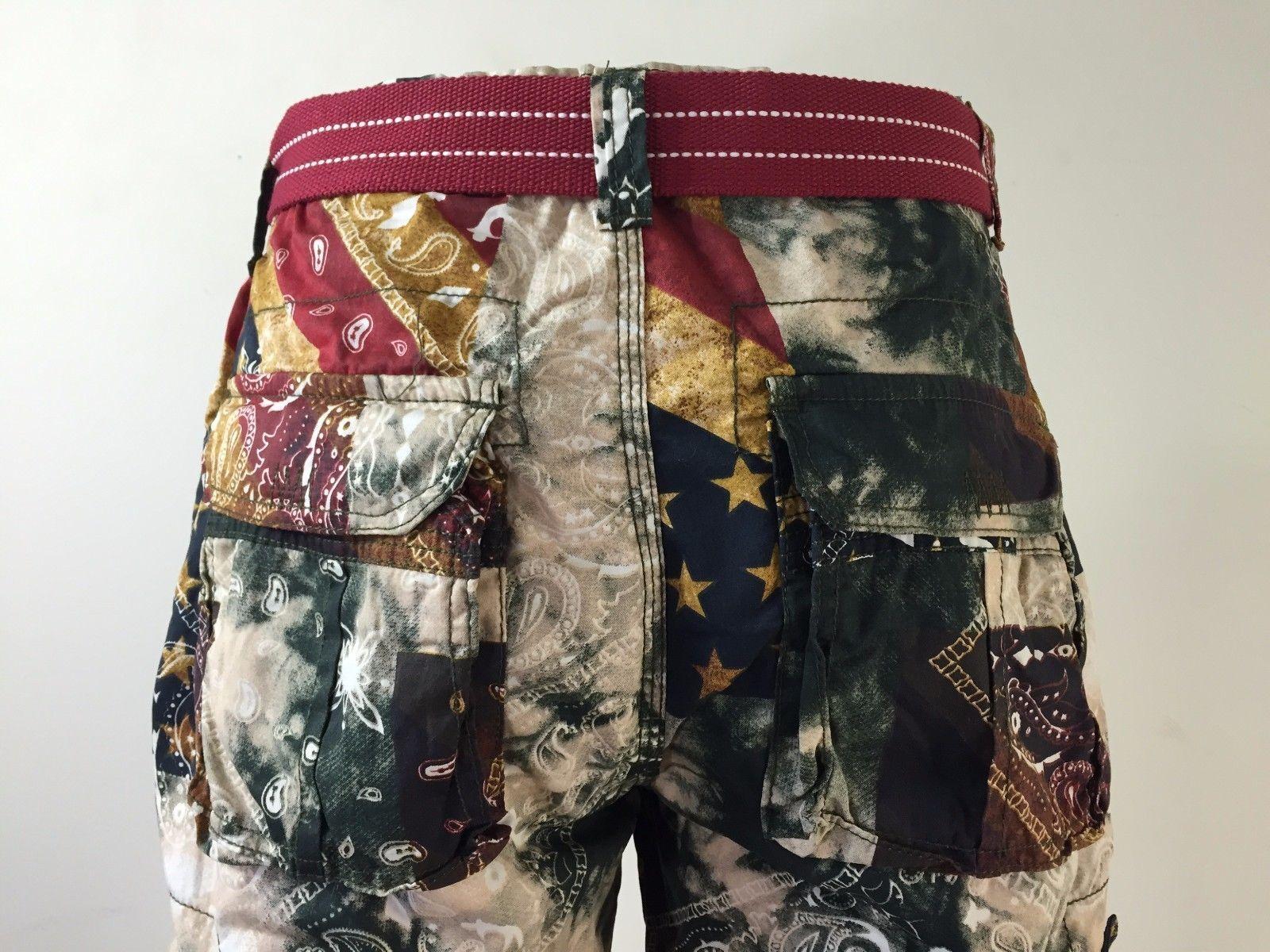 Men's FOCUS Army Camo Cargo Shorts Sizes: 30 - 44